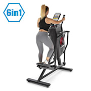 Helix Stride 6-i-1-crosstrainer LC-display 32 steg svart