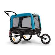 Husky Vario, rowerowa przyczepka do przewozu psów/wózek dla psów 2 w 1, ok. 240 l, płótno Oxford 600D,  niebieski Niebieski