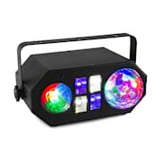 LEDWAVE LED, jellybll, 6x3 W RGB, waterwave 1x4 RGBW, UV/stroboskop 4x3 W, černý