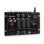 DJ-22BT, MKII, mixer,DJ-mixer cu 3/2 canale, BT, 2xUSB, montare pe raft, negru Negru