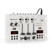 DJ-22BT, MKII, mixer,DJ-mixer cu 3/2 canale, BT, 2xUSB, montare pe raft, alb Alb