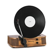 Verticalo SE retro platenspeler USB BT line-out hout Inclusief bluetooth