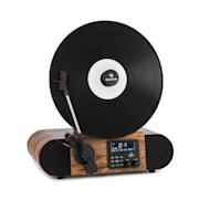 Verticalo SE DAB Giradischi Rétro DAB+ FM USB BT AUX legno Con bluetooth, sintonizzatore DAB+ e FM
