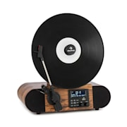 Verticalo SE DAB, ретро грамофон, DAB +, FM тунер, USB, BT, AUX, дърво С Bluetooth DAB + и FM тунер