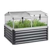 High Grow Advanced Hochbeet mit Dach 120x95x100cm 540l Stahl verzinkt anthrazit Anthrazit