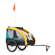 Husky Race Bicycle Dog Trailer 282L 40kg 600D Oxford Canvas Blue Yellow / Blue