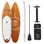 Downwind Cruiser M SUP-Board - Aufblasbares Paddleboard Set 330x10x77 orange M - 330 x 10 x 77 cm