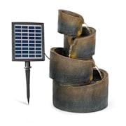 Mantua, kaszkád szökőkút, napenergia szökőkút, kerti szökőkút, 4 szint, akkumulátorral működik