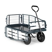 Ventura Trolley handcart Utility Dolly Heavy Load 300 kg Steel WPC black Black