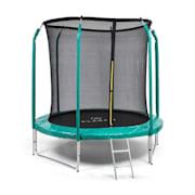 Jumpstarter, trampolina, średnica siatki 2,5 m, nośność 120 kg max., ciemnozielona Ciemnozielony