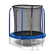 Jumpstarter trampoline 2,5m Ø net 120kg max. donkerblauw Donkerblauw