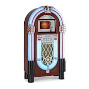 "Graceland Touch Jukebox 12"" Pannello Touch Wi-Fi, CD, BT, effetto legno CD-Player / Bluetooth / Touchscreen"