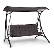 Marbella 3-Seater Swing with Dark Grey Sun Canopy Dark Grey
