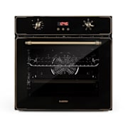 Elizabeth Built-In Oven Retro Design 6 Functions 50-250 ° C Black Black