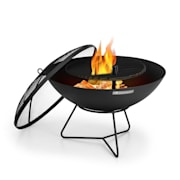Orbit, 3 az 1-ben acél tűzrakóhely, Ø 60 cm, 40 cm grill, asztal, fekete