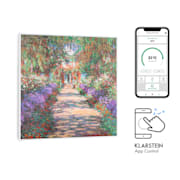 Wonderwall Air Art Smart Infrared Heater 60x60cm 350W App Garden Path 60 x 60 cm / design: garden path