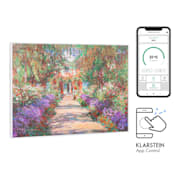 Wonderwall Air Art Smart Infrared Heater 80x60cm 500W Garden Path 80 x 60 cm / Design: Garden Path