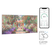 Wonderwall Air Art Smart Infrarotheizung 120x60cm 700W Wandinstallation  App-Steuerung Gartenweg 120 x 60 cm / Design: Gartenweg