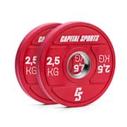 Nipton 2021 Gewichtsplatte Bumper Plate | 2 x 2,5 kg | Ø 54 mm | Hartgummi 2x 2.5 kg