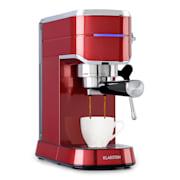 Futura, espresso aparat za kavo, 20 barov, 1450 W, 1,25 l, nerjaveče jeklo Rdeča