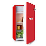 Beercracker 90L, hladnjak, energetski razred A +, zamrzivač, otvarač za boce, crvena