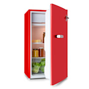 Beercracker 90L, hűtőszekrény, A+ energiahatékonysági osztály, fagyasztóláda, palacknyitó, piros
