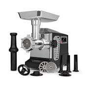 Kraftprotz, elektryczna maszynka do mięsa, 700W, silnik miedziany, stal nierdzewna, czarna  Czarny