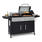 Kingsville XL combi-barbecue gas pizzaoven 20,5kW 5+1 brander