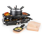 Entrecote, grill raclette/fodnue 2 w 1, kamień naturalny, 1100 W, na 8 osób, podstawka Wooden Pan Tablets included