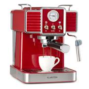 Gusto Classico, espresso kávovar, 1350 W, tlak 20 bar, nádrž na vodu: 1,5 litru Červená