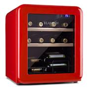 Vinetage 12 Getränkekühler Kühlschrank 46 Liter 4-22°C Retro-Design Rot