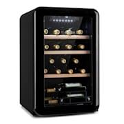 Vinetage 19 Uno Getränkekühler Kühlschrank 70 Liter 4-22°C Retro-Design Schwarz