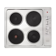 Appetito 4, Electric Cooking Hob, 4 plates, 6 power levels, 5500 watts, stainless steel Silver