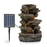 Stonehenge, napelemes szökőkút, LED lámpa, polireszin, lítium-ion akkumulátor