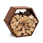 Hexawood Rust, поставка за дърво, шестоъгълна форма, 50,2 × 58 × 32 cm Ръжда