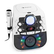 StarMaker 2.0, impianto per karaoke, Bluetooth, lettore CD, incl. microfono Bianco