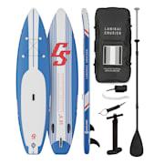 Lanikai Cruiser 10.8, napihljivi paddleboard, set s SUP desko, 330 × 77 × 15 modro črtasto