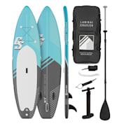 Lanikai Cruiser 9.8, napihljivi paddleboard, set s SUP desko, 305 × 77 × 10 Črna / Modra