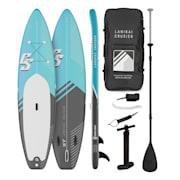 Lanikai Cruiser 10.8, napihljivi paddleboard, set s SUP desko, 330 × 77 × 15 Črna / Modra