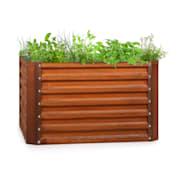Rust Grow, повдигната градинска леха, поцинкована стоманена повърхност, ръждив цвят 100 x 100 x 60 cm