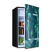 Combinación de frigorífico y congelador CoolArt 79L, clase de eficiencia energética F, congelador 9 litros, puerta de diseño Forest