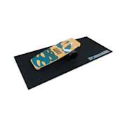 Indoorboard Limited Edition Wakeboard Balance Board + Tapete + Rolo Madeira / Cortiça Azul