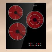 Virtuosa 3 Slim Kochfeld 3 Felder 5000 W Dualzone Timer Keramik Schwarz