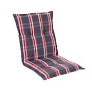 Prato, oblazinjenje, oblazinjenje naslanjača, nizek hrbtni naslon, poliester, 50x100x8cm Siva / Rdeča | 1 x sedišča