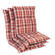 Prato, polstry, čalounění na křeslo, nízké opěradlo, polyester, 50 x 100 x 8 cm červená bílá | 3 x sedák