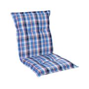 Prato Polsterauflage Sesselauflage Niedriglehner Gartenstuhl Polyester 50x100x8cm Weiß / blau | 1 x Sitzauflage