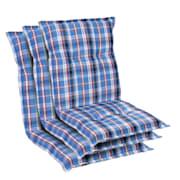 Prato, čalúnenie, čalúnenie na kreslo, nízke operadlo, polyester, 50x100x8cm Biela / Modrá | 3 x sedák