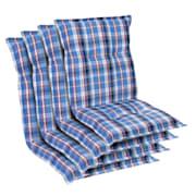 Prato, oblazinjenje, oblazinjenje naslanjača, nizek hrbtni naslon, poliester, 50x100x8cm Bela / Modra | 4 x sedišča