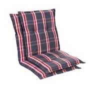 Prato, oblazinjenje, oblazinjenje naslanjača, nizek hrbtni naslon, poliester, 50x100x8cm Siva / Rdeča | 2 x sedišča