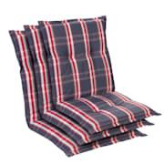 Prato, oblazinjenje, oblazinjenje naslanjača, nizek hrbtni naslon, poliester, 50x100x8cm Siva / Rdeča | 3 x sedišča
